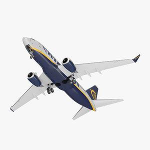 boeing 737-700 ryanair 3D