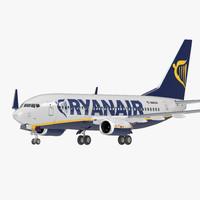 3D boeing 737-700 ryanair rigged