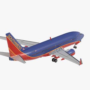 3D boeing 737 700 southwest