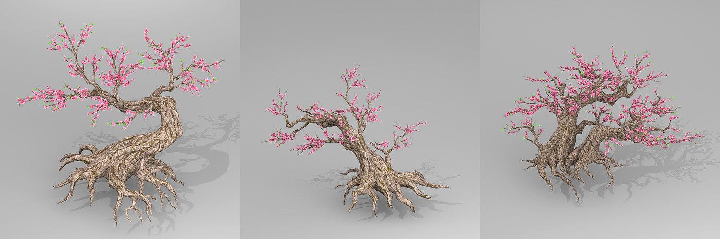 3D peach trees