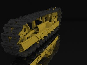 3D model tractor chassis