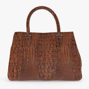 crocodile leather handbag 3D model