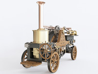 3D patrick stirling steam traction model