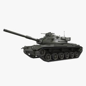 3D main battle tank m60 model