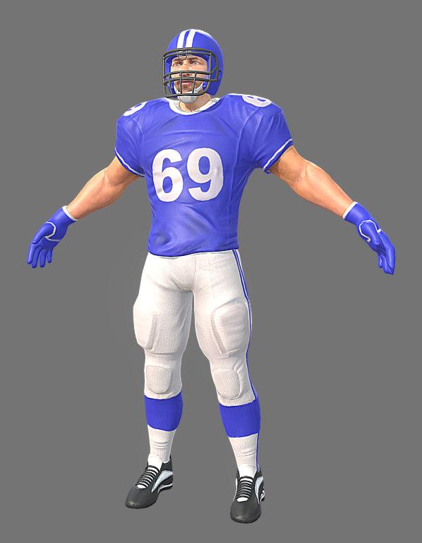 3D model american footballer