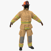 3D firefighter uniform model