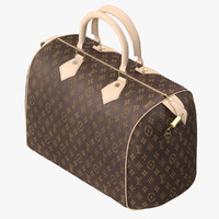 louis vuitton bag 3D model