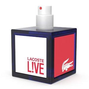 3D perfume lacoste model