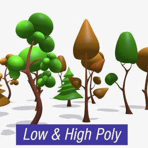 3D trees asset games