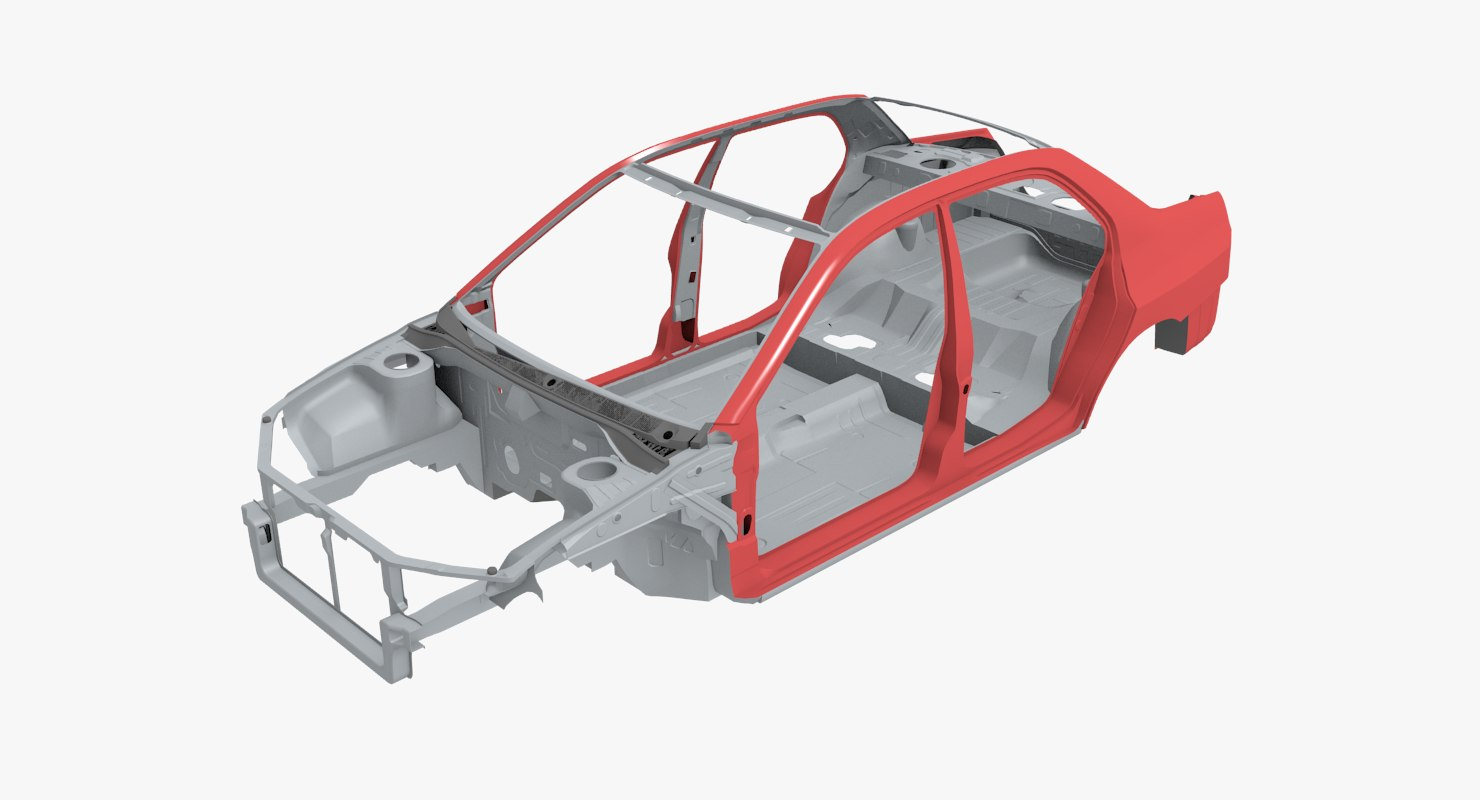Car body frame 3D model - TurboSquid 1156746
