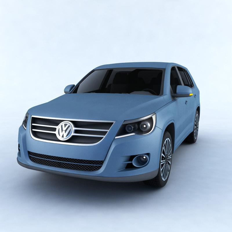 3D car volkswagen tiguan model