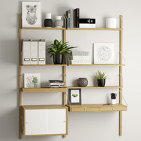 Svalnas wall-mounted workspace combination