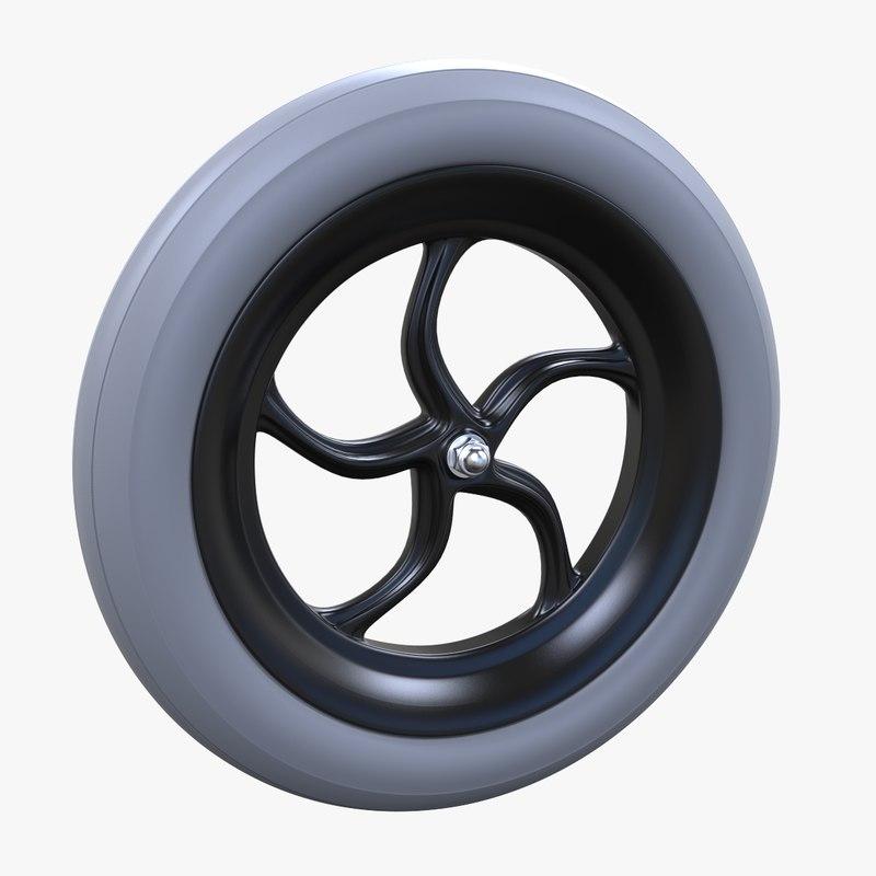 3D small wheels model