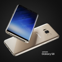 3D samsung galaxy s8 colors model