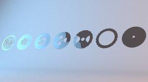 3D circle shape design