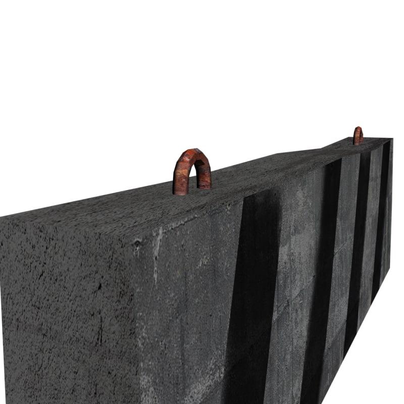 road block 3D model