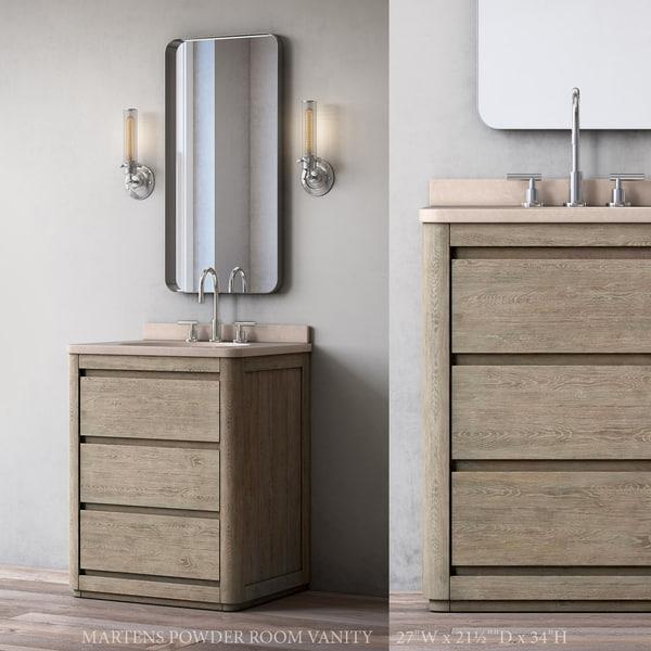 Rh Martens Powder Room Vanity Model