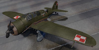 plane pzl p-23 karas 3D model