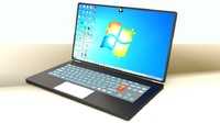 3D laptop design model