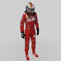 sebastian vettel 2017 3D model