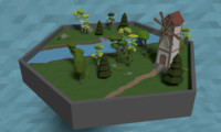 windmill forest 3D model