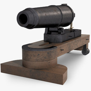 naval cannon carronade model