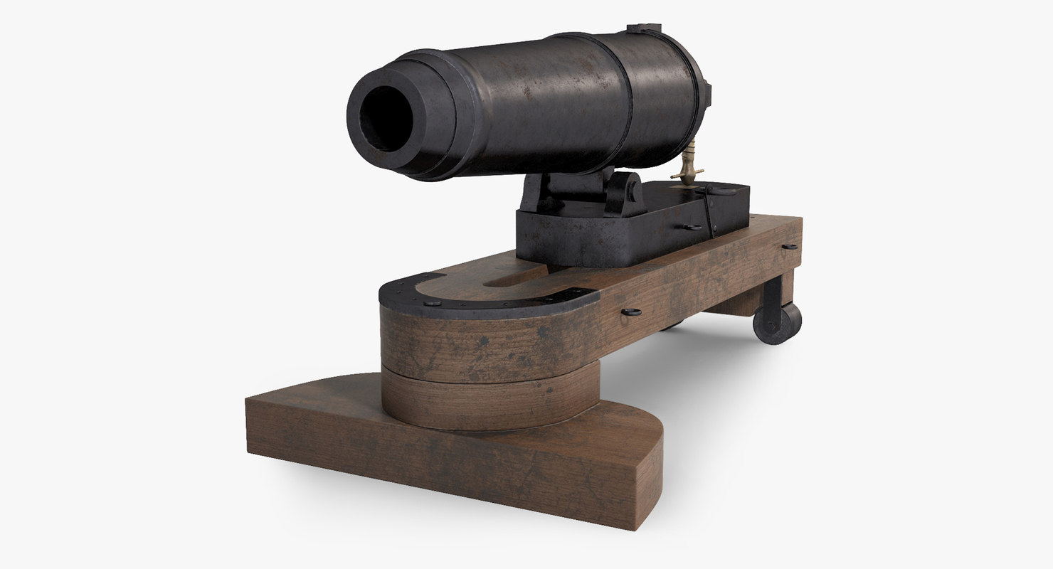 naval cannon carronade model