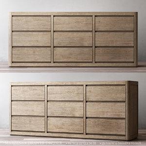 3D martens 9-drawer dresser