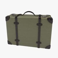 vintage green suitcase 3D model