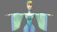cartoon woman 3D
