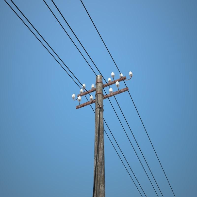 power pole 3D model