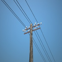 power pole 3D model