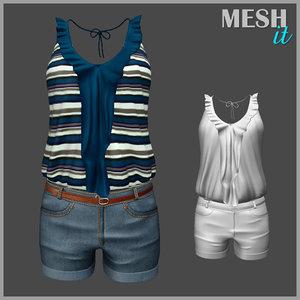 3D model shirt set