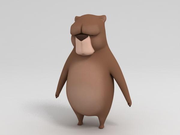 bear character 3D model