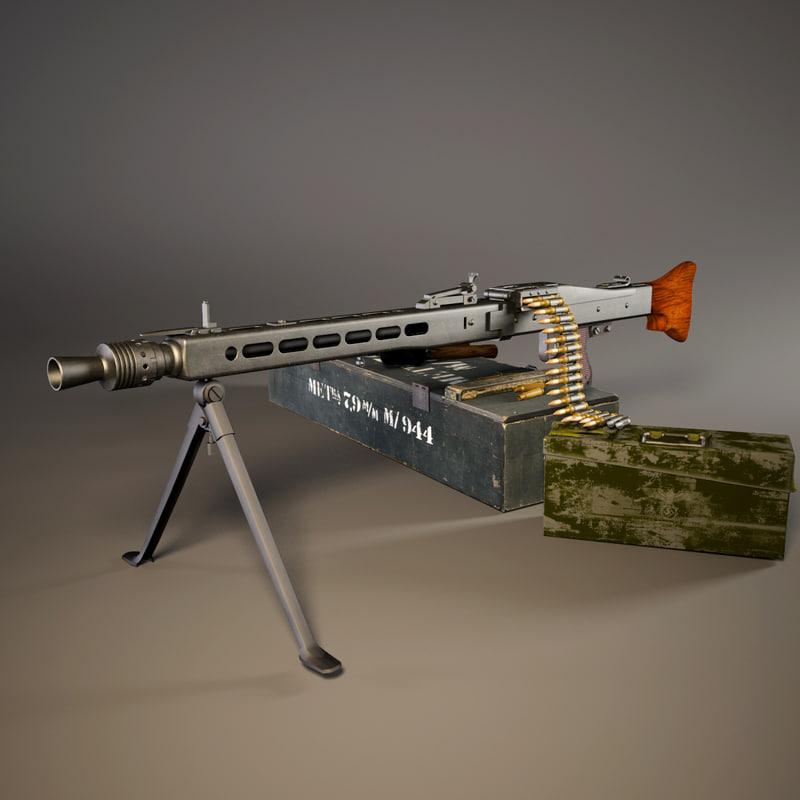 3D mg 42 ww2 german model