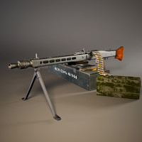3D mg 42 ww2 german model
