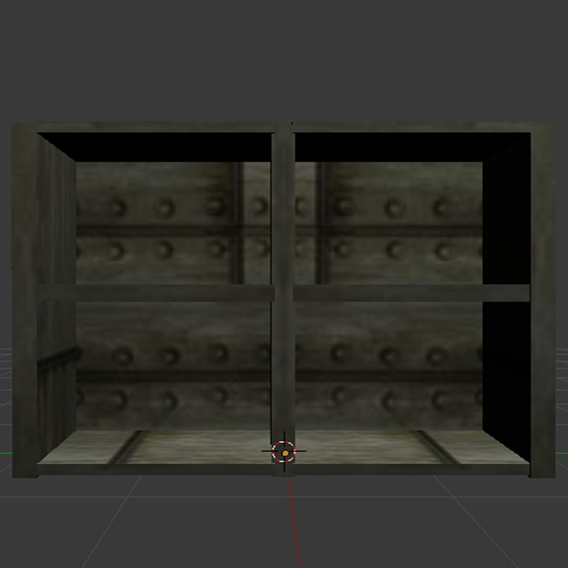 3D horror small cabinet