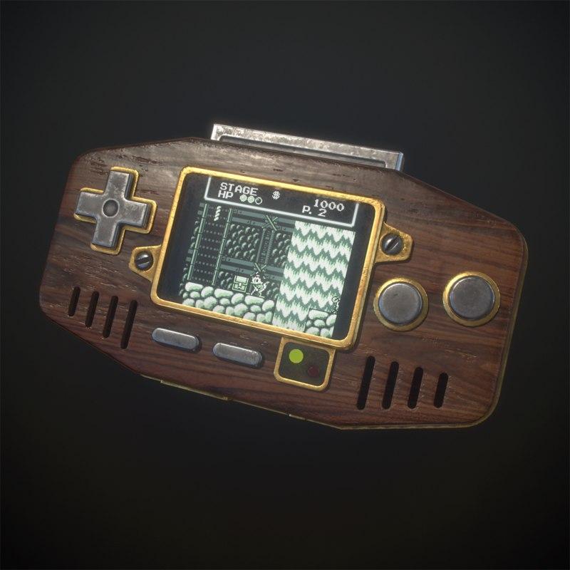 3D handheld console model