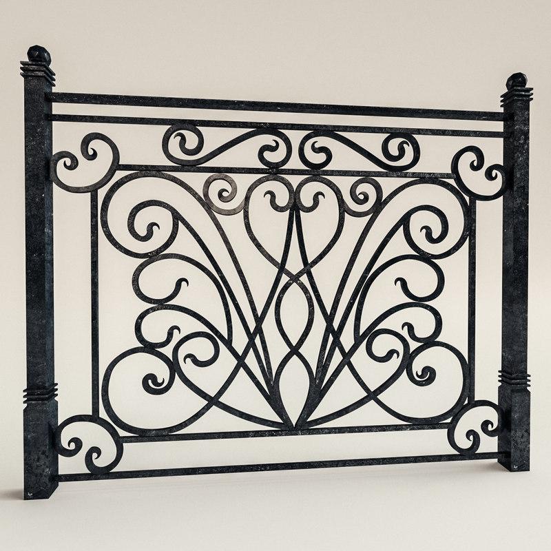 3D railing forged
