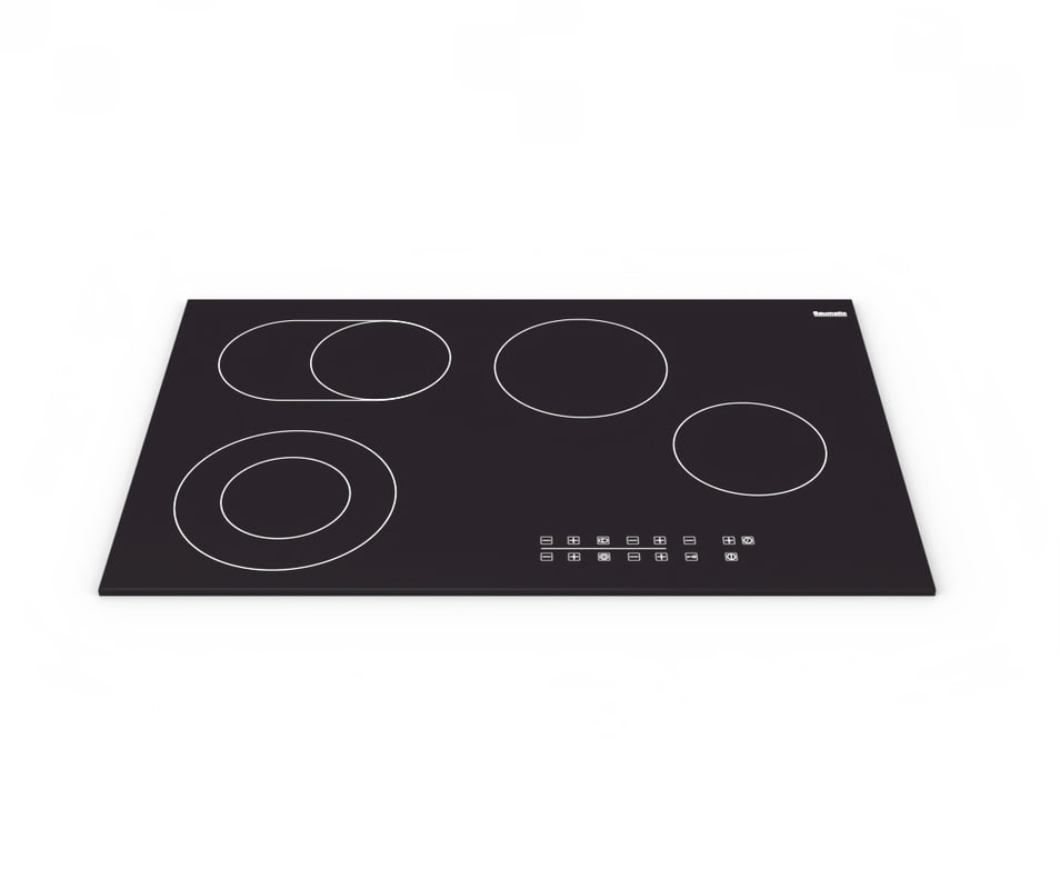 black electric ceramic hob 3D model