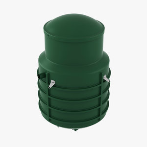 plastic septic tank 2 3D model