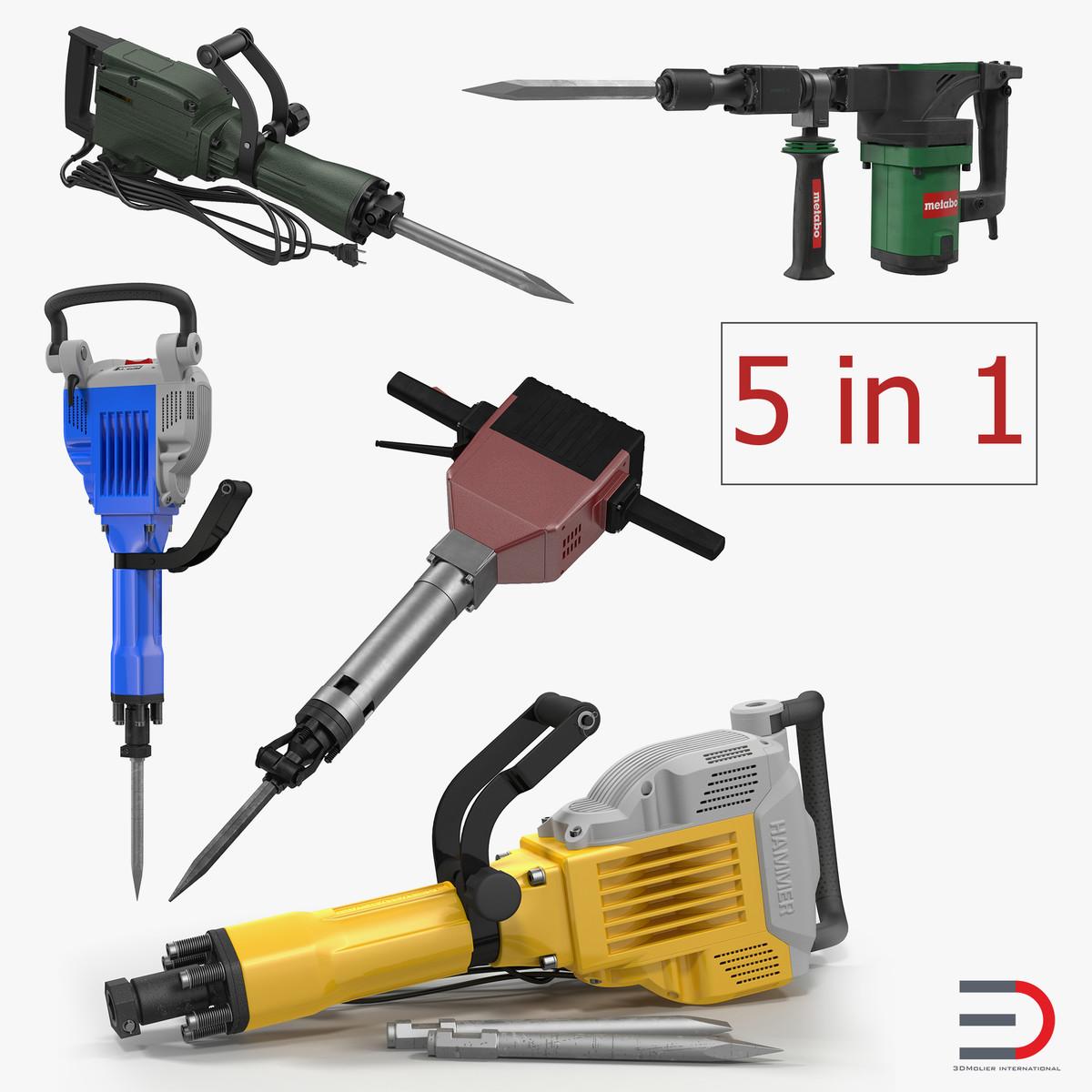 3D demolition jack hammers 2
