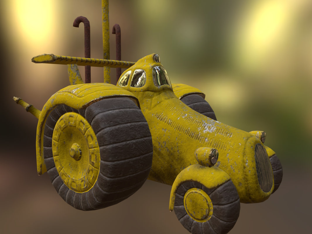 cartoon pbr model