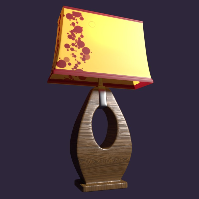 3D pearson table lamp wooden model