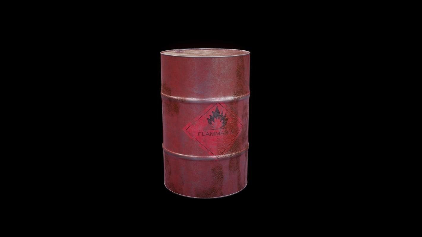 flammable liquid barrel rusty model
