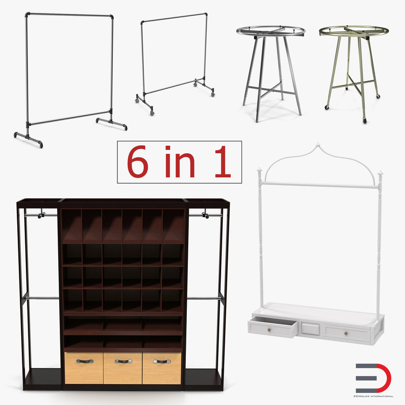 3D model retail display shelves