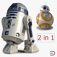 star wars robost r2d2 3D model