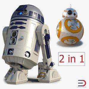 star wars robost r2d2 3D model
