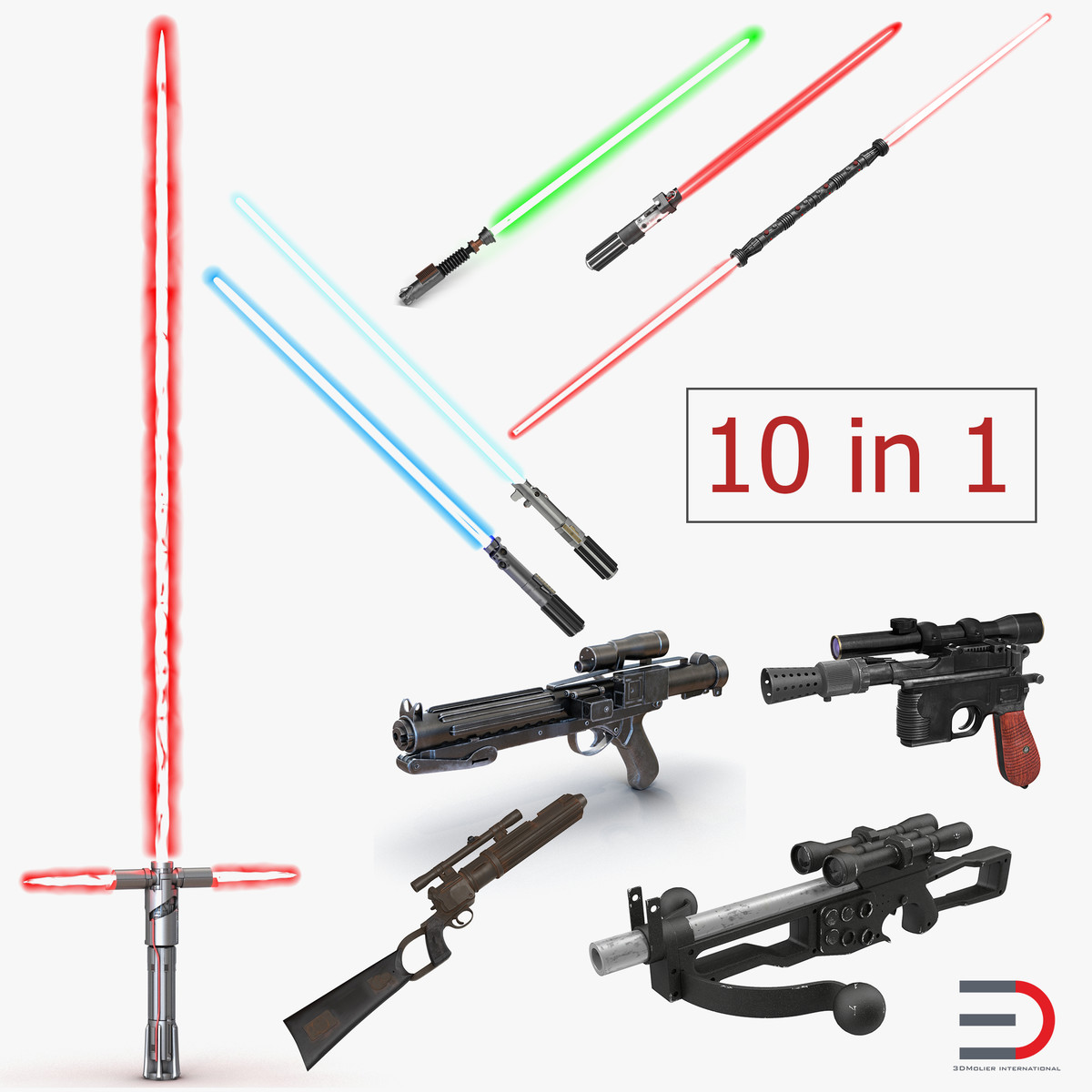 3D star wars weapons