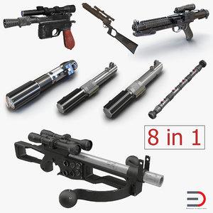 star wars weapons 2 3D model